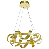 Rolling Hills LED 22 inch Brushed Brass Chandelier Ceiling Light