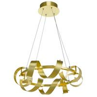 Artcraft AC7210GD Rolling Hills LED 22 inch Brushed Brass Chandelier Ceiling Light