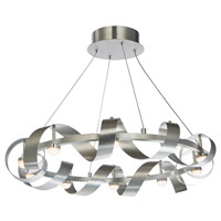 Rolling Hills LED 26 inch Brushed Aluminum Chandelier Ceiling Light