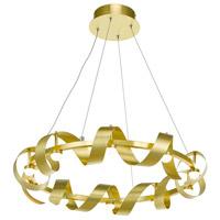 Artcraft AC7211GD Rolling Hills LED 26 inch Brushed Brass Chandelier Ceiling Light