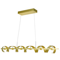 Rolling Hills LED 47 inch Brushed Brass Island Light Ceiling Light