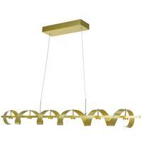 Artcraft AC7212GD Rolling Hills LED 47 inch Brushed Brass Island Light Ceiling Light