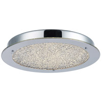 Stardust LED 16 inch Chrome Flush Mount Ceiling Light