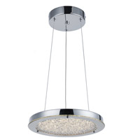 Stardust LED 12 inch Chrome Chandelier Ceiling Light