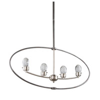 Kingsford LED 3 inch Slate and Brushed Nickel Chandelier Ceiling Light