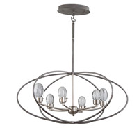 Kingsford LED 22 inch Slate and Brushed Nickel Chandelier Ceiling Light