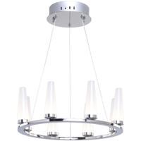 Artcraft AC7510 Briar LED 16 inch Chrome Chandelier Ceiling Light