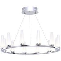 Artcraft AC7511 Briar LED 25 inch Chrome Chandelier Ceiling Light
