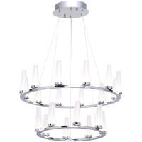 Artcraft AC7514 Briar LED 24 inch Chrome Chandelier Ceiling Light