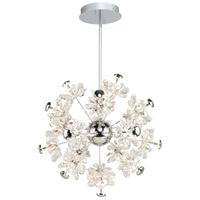 Artcraft AC7530 Blossom LED 22 inch Chrome Chandelier Ceiling Light