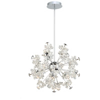 Chrome Crystal Blossom Chandeliers