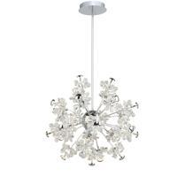 Artcraft AC7531 Blossom LED 26 inch Chrome Chandelier Ceiling Light