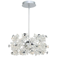 Artcraft AC7532 Blossom LED 30 inch Chrome Chandelier Ceiling Light
