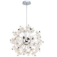 Artcraft AC7533 Blossom LED 32 inch Chrome Chandelier Ceiling Light