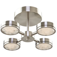 Terranova LED 16 inch Black Pearl Nickel Semi Flush Ceiling Light