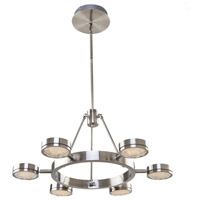 Artcraft AC7546 Terranova LED 27 inch Black Pearl Nickel Chandelier Ceiling Light