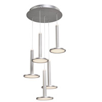 Artcraft AC7556 Aurora LED 14 inch Brushed Aluminum Chandelier Ceiling Light