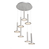 Artcraft AC7557 Aurora LED 18 inch Brushed Aluminum Chandelier Ceiling Light