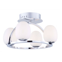 Artcraft AC7994 Meridian LED 16 inch Chrome Flush Mount Ceiling Light