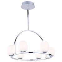 Artcraft AC7996 Meridian LED 23 inch Chrome Chandelier Ceiling Light