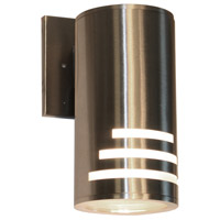 Nuevo 1 Light 9 inch Stainless Steel Outdoor Wall Light