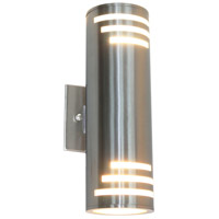 Nuevo 2 Light 13 inch Stainless Steel Outdoor Wall Light
