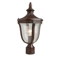 Artcraft Lighting Palermo 1 Light Outdoor Post Head in Mahogany AC8023MA