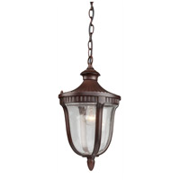 Palermo 1 Light 9 inch Mahogany Outdoor Pendant