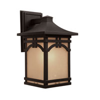Artcraft Lighting Courtyard 1 Light Outdoor Wall in Black AC8061BK