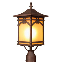 Artcraft Lighting Courtyard 1 Light Post Head in Oil Rubbed Bronze AC8063OB photo thumbnail