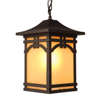 Artcraft Lighting Courtyard 1 Light Outdoor Pendant in Black AC8065BK