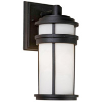 ARTCRAFT Columbia 1 Light Outdoor Wall Sconce in Black AC8081BK