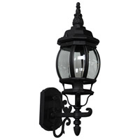 ARTCRAFT Classico 1 Light Outdoor Wall Mount in Black AC8090BK
