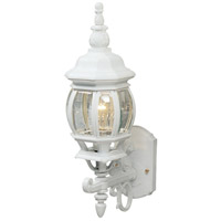 ARTCRAFT Classico 1 Light Outdoor Wall Mount in White AC8090WH
