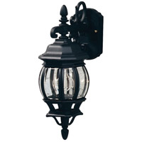ARTCRAFT Classico 1 Light Outdoor Wall Mount in Black AC8091BK