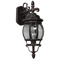 ARTCRAFT Classico 1 Light Outdoor Wall Mount in Rust AC8091RU