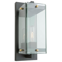 Artcraft AC8131BK Bradgate 1 Light 18 inch Matte Black and Harvest Brass Outdoor Wall Light