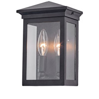 Artcraft AC8160BK Gable 2 Light 9 inch Black Outdoor Wall Sconce