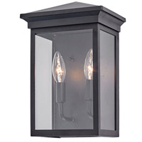 Artcraft AC8161BK Gable 2 Light 12 inch Black Outdoor Wall Sconce