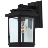 Freemont 1 Light 10 inch Black Outdoor Sconce