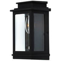 Freemont 1 Light 8 inch Black Outdoor Wall Light
