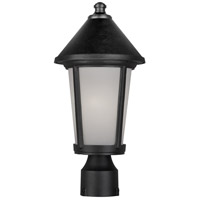 Artcraft Lighting Malibu 1 Light Post Head in Black AC8213BK