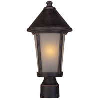 Artcraft Lighting Malibu 1 Light Post Head in Rust AC8213RU