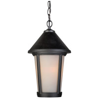 Malibu 1 Light 8 inch Black Outdoor Pendant