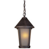 ARTCRAFT Malibu 1 Light Outdoor Pendant in Rust AC8215RU photo thumbnail