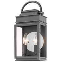 Artcraft AC8221BK Fulton 2 Light 13 inch Black Outdoor Wall Sconce