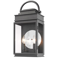 Artcraft AC8231BK Fulton 2 Light 19 inch Black Outdoor Wall Sconce