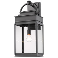 Artcraft AC8240BK Fulton 1 Light 24 inch Black Outdoor Wall Sconce