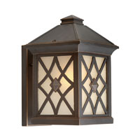 Artcraft Lighting Lattice 1 Light Outdoor Wall in Oil Rubbed Bronze AC8251OB