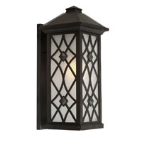 Artcraft Lighting Lattice 1 Light Outdoor Wall in Black AC8261BK